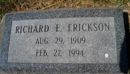 ERICKSON, RICHARD E - Saunders County, Nebraska | RICHARD E ERICKSON - Nebraska Gravestone Photos