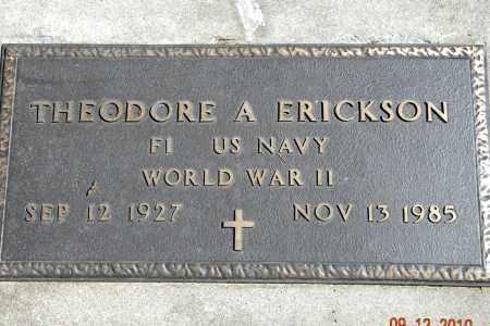 ERICKSON, THEODORE A - Saunders County, Nebraska   THEODORE A ERICKSON - Nebraska Gravestone Photos