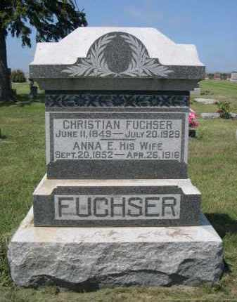 FUSHSER, ANNA E. - Saunders County, Nebraska | ANNA E. FUSHSER - Nebraska Gravestone Photos