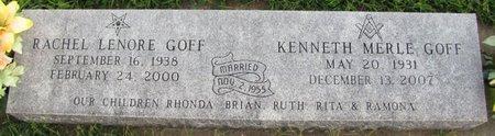 GOFF, RACHEL LENORE - Saunders County, Nebraska | RACHEL LENORE GOFF - Nebraska Gravestone Photos
