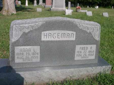 HAGEMAN, FRED A. - Saunders County, Nebraska | FRED A. HAGEMAN - Nebraska Gravestone Photos