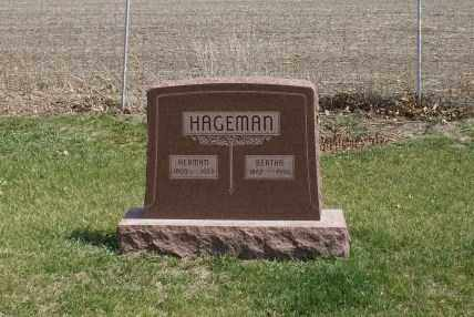 HAGEMAN, HERMAN - Saunders County, Nebraska | HERMAN HAGEMAN - Nebraska Gravestone Photos