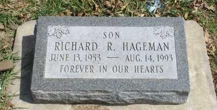 HAGEMAN, RICHARD R. - Saunders County, Nebraska   RICHARD R. HAGEMAN - Nebraska Gravestone Photos
