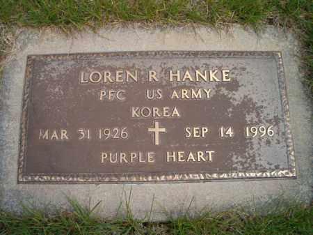 HANKE, LOREN R. (MILITARY MARKER) - Saunders County, Nebraska   LOREN R. (MILITARY MARKER) HANKE - Nebraska Gravestone Photos