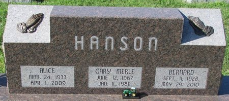 WILLS HANSON, ALICE - Saunders County, Nebraska | ALICE WILLS HANSON - Nebraska Gravestone Photos