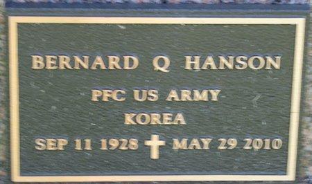 HANSON, BERNARD Q. (MILITARY) - Saunders County, Nebraska | BERNARD Q. (MILITARY) HANSON - Nebraska Gravestone Photos