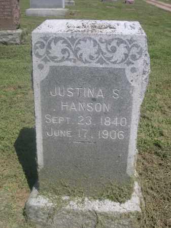 HANSON, JUSTINA S. - Saunders County, Nebraska | JUSTINA S. HANSON - Nebraska Gravestone Photos
