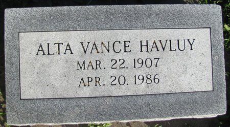 HAVLUY, ALTA EDNA - Saunders County, Nebraska   ALTA EDNA HAVLUY - Nebraska Gravestone Photos