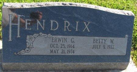 HENDRIX, ERWIN G. - Saunders County, Nebraska | ERWIN G. HENDRIX - Nebraska Gravestone Photos