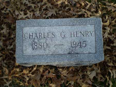 HENRY, CHARLES G - Saunders County, Nebraska   CHARLES G HENRY - Nebraska Gravestone Photos