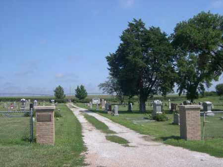 HOLLST-LAWN CEMETERY, ENTRANCE TO - Saunders County, Nebraska | ENTRANCE TO HOLLST-LAWN CEMETERY - Nebraska Gravestone Photos