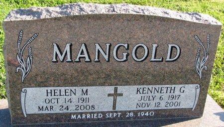 MANGOLD, HELEN M. - Saunders County, Nebraska | HELEN M. MANGOLD - Nebraska Gravestone Photos