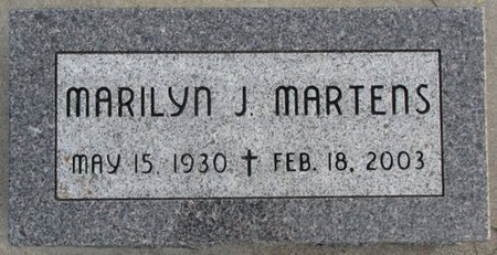 MARTENS, MARILYN J. - Saunders County, Nebraska | MARILYN J. MARTENS - Nebraska Gravestone Photos