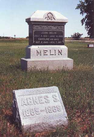 ANDERSON MELIN, CAROLINE - Saunders County, Nebraska | CAROLINE ANDERSON MELIN - Nebraska Gravestone Photos