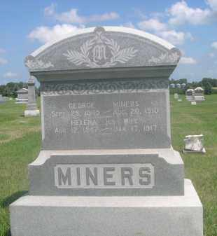MINERS, GEORGE - Saunders County, Nebraska | GEORGE MINERS - Nebraska Gravestone Photos