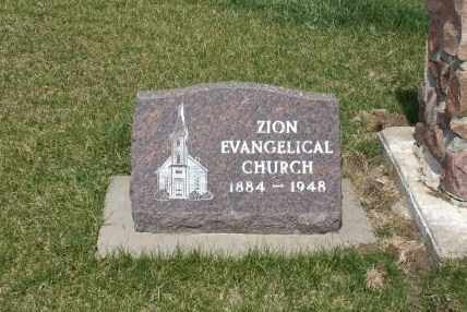 *ZION EVANGELICAL, CHURCH - Saunders County, Nebraska | CHURCH *ZION EVANGELICAL - Nebraska Gravestone Photos