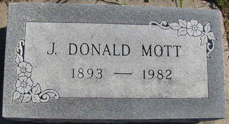MOTT, J. DONALD - Saunders County, Nebraska | J. DONALD MOTT - Nebraska Gravestone Photos