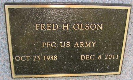 OLSON, FRED H. (MILITARY) - Saunders County, Nebraska | FRED H. (MILITARY) OLSON - Nebraska Gravestone Photos
