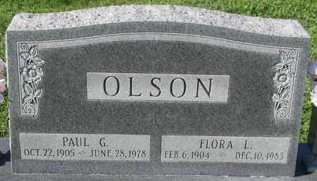 OLSON, FLORA L. - Saunders County, Nebraska | FLORA L. OLSON - Nebraska Gravestone Photos