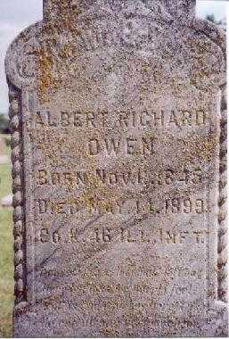 OWEN, ALBERT RICHARD - Saunders County, Nebraska   ALBERT RICHARD OWEN - Nebraska Gravestone Photos