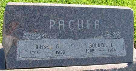PACULA, MABEL G. - Saunders County, Nebraska | MABEL G. PACULA - Nebraska Gravestone Photos