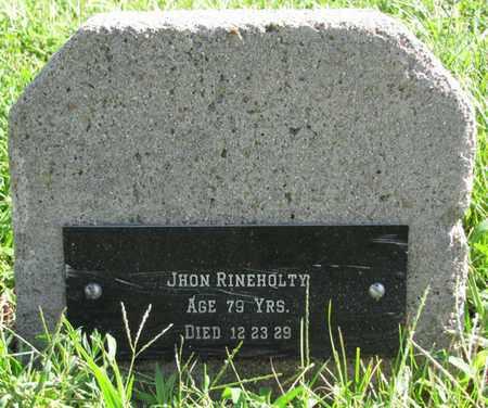 RINEHOLTY, JOHN - Saunders County, Nebraska   JOHN RINEHOLTY - Nebraska Gravestone Photos