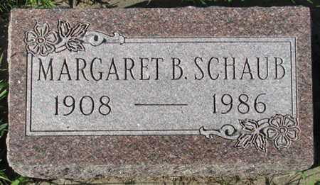SCHAUB, MARGARET B. - Saunders County, Nebraska   MARGARET B. SCHAUB - Nebraska Gravestone Photos