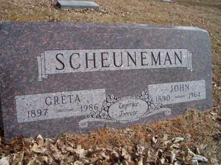 SCHEUNEMAN, GRETA - Saunders County, Nebraska | GRETA SCHEUNEMAN - Nebraska Gravestone Photos
