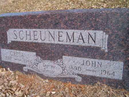 SCHEUNEMAN, JOHN - Saunders County, Nebraska | JOHN SCHEUNEMAN - Nebraska Gravestone Photos
