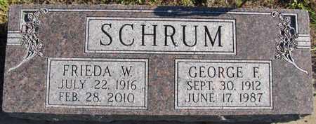 SCHRUM, GEORGE F. - Saunders County, Nebraska   GEORGE F. SCHRUM - Nebraska Gravestone Photos