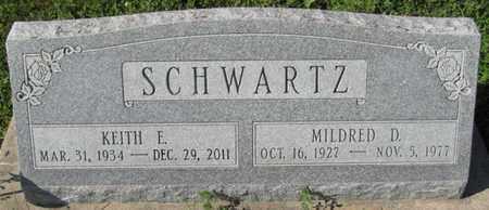 SCHWARTZ, KEITH E. - Saunders County, Nebraska | KEITH E. SCHWARTZ - Nebraska Gravestone Photos