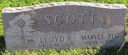 SCOTT, LLOYD R. - Saunders County, Nebraska   LLOYD R. SCOTT - Nebraska Gravestone Photos