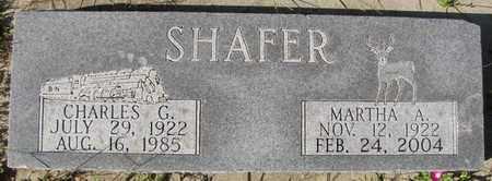 SHAFER, MARTHA A. - Saunders County, Nebraska   MARTHA A. SHAFER - Nebraska Gravestone Photos