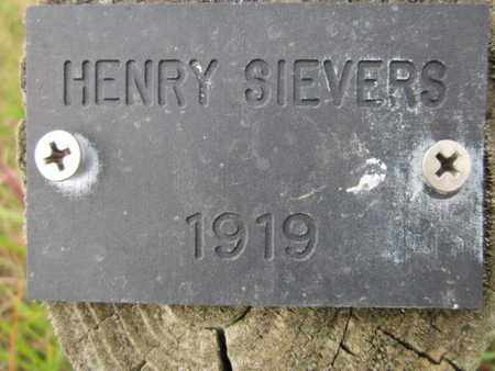SIEVERS, HENRY - Saunders County, Nebraska | HENRY SIEVERS - Nebraska Gravestone Photos