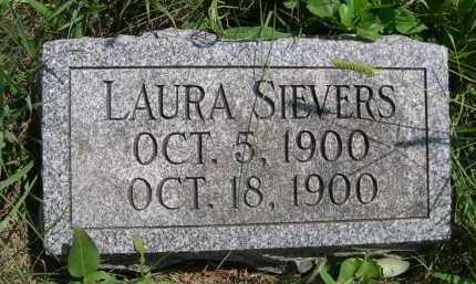 SIEVERS, LAURA - Saunders County, Nebraska | LAURA SIEVERS - Nebraska Gravestone Photos