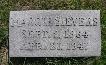 SIEVERS, MAGGIE - Saunders County, Nebraska   MAGGIE SIEVERS - Nebraska Gravestone Photos