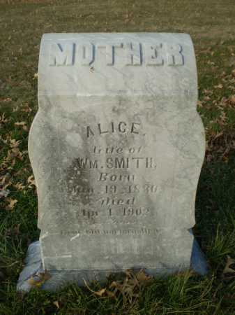 SMITH, ALICE - Saunders County, Nebraska | ALICE SMITH - Nebraska Gravestone Photos