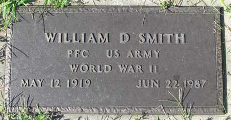 SMITH, WILLIAM D. (MILITARY MARKER) - Saunders County, Nebraska | WILLIAM D. (MILITARY MARKER) SMITH - Nebraska Gravestone Photos
