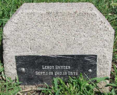 SNYDER, LEROY - Saunders County, Nebraska | LEROY SNYDER - Nebraska Gravestone Photos