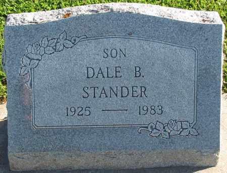 STANDER, DALE BERNARD - Saunders County, Nebraska   DALE BERNARD STANDER - Nebraska Gravestone Photos
