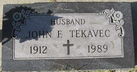 TEKAVEC, JOHN F. - Saunders County, Nebraska | JOHN F. TEKAVEC - Nebraska Gravestone Photos