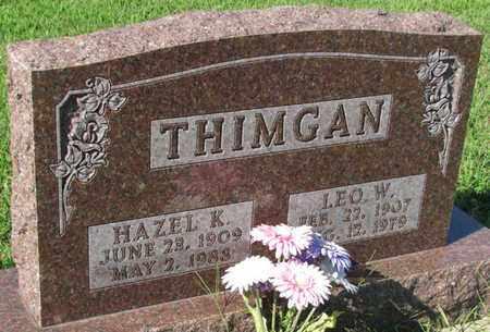 THIMGAN, HAZEL K. - Saunders County, Nebraska | HAZEL K. THIMGAN - Nebraska Gravestone Photos