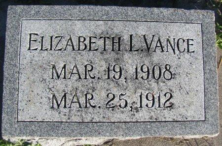 VANCE, ELIZABETH L. - Saunders County, Nebraska | ELIZABETH L. VANCE - Nebraska Gravestone Photos