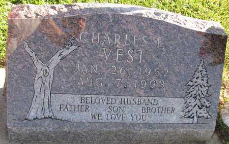 VEST, CHARLES E. - Saunders County, Nebraska | CHARLES E. VEST - Nebraska Gravestone Photos