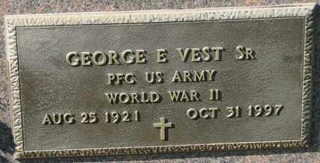 VEST, SR., GEORGE E. (MILITARY MARKER) - Saunders County, Nebraska | GEORGE E. (MILITARY MARKER) VEST, SR. - Nebraska Gravestone Photos