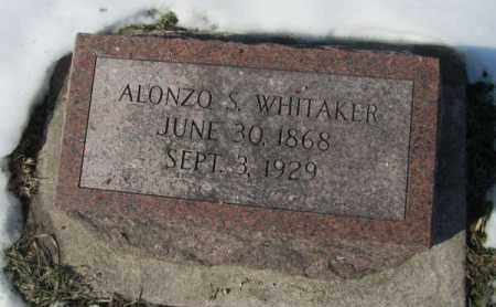 WHITAKER, ALONZO S. - Saunders County, Nebraska | ALONZO S. WHITAKER - Nebraska Gravestone Photos