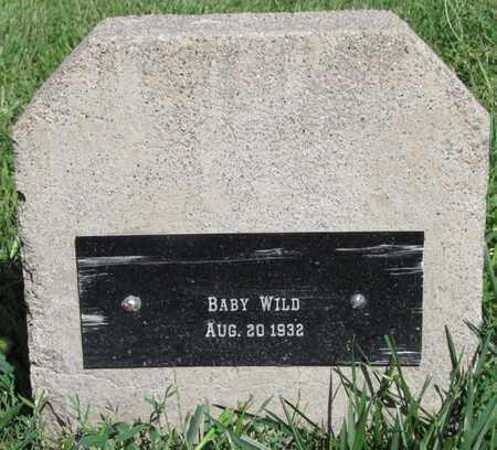 WILD, BABY - Saunders County, Nebraska | BABY WILD - Nebraska Gravestone Photos