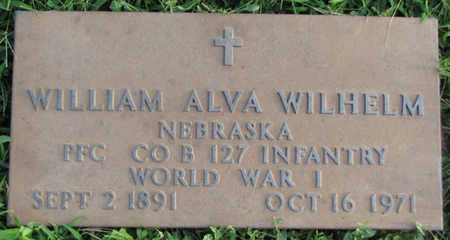 WILHELM, WILLIAM ALVA (MILITARY MARKER) - Saunders County, Nebraska | WILLIAM ALVA (MILITARY MARKER) WILHELM - Nebraska Gravestone Photos