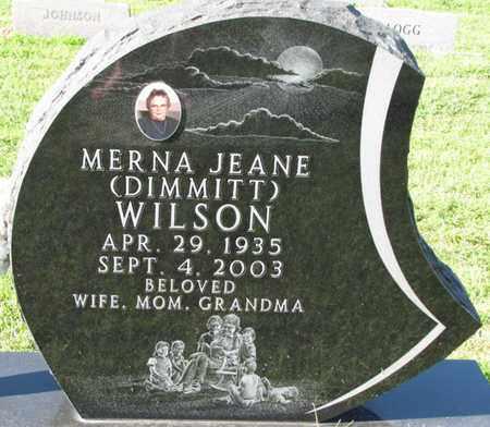 WILSON, MERNA JEANE - Saunders County, Nebraska   MERNA JEANE WILSON - Nebraska Gravestone Photos