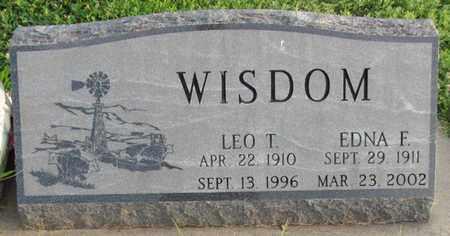 WISDOM, EDNA F. - Saunders County, Nebraska | EDNA F. WISDOM - Nebraska Gravestone Photos